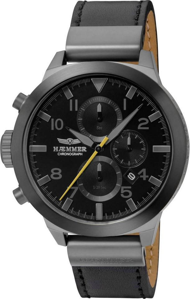 "HAEMMER GERMANY, Chronograph, ""CONFIDENT, HF-04"" in schwarz-grau"