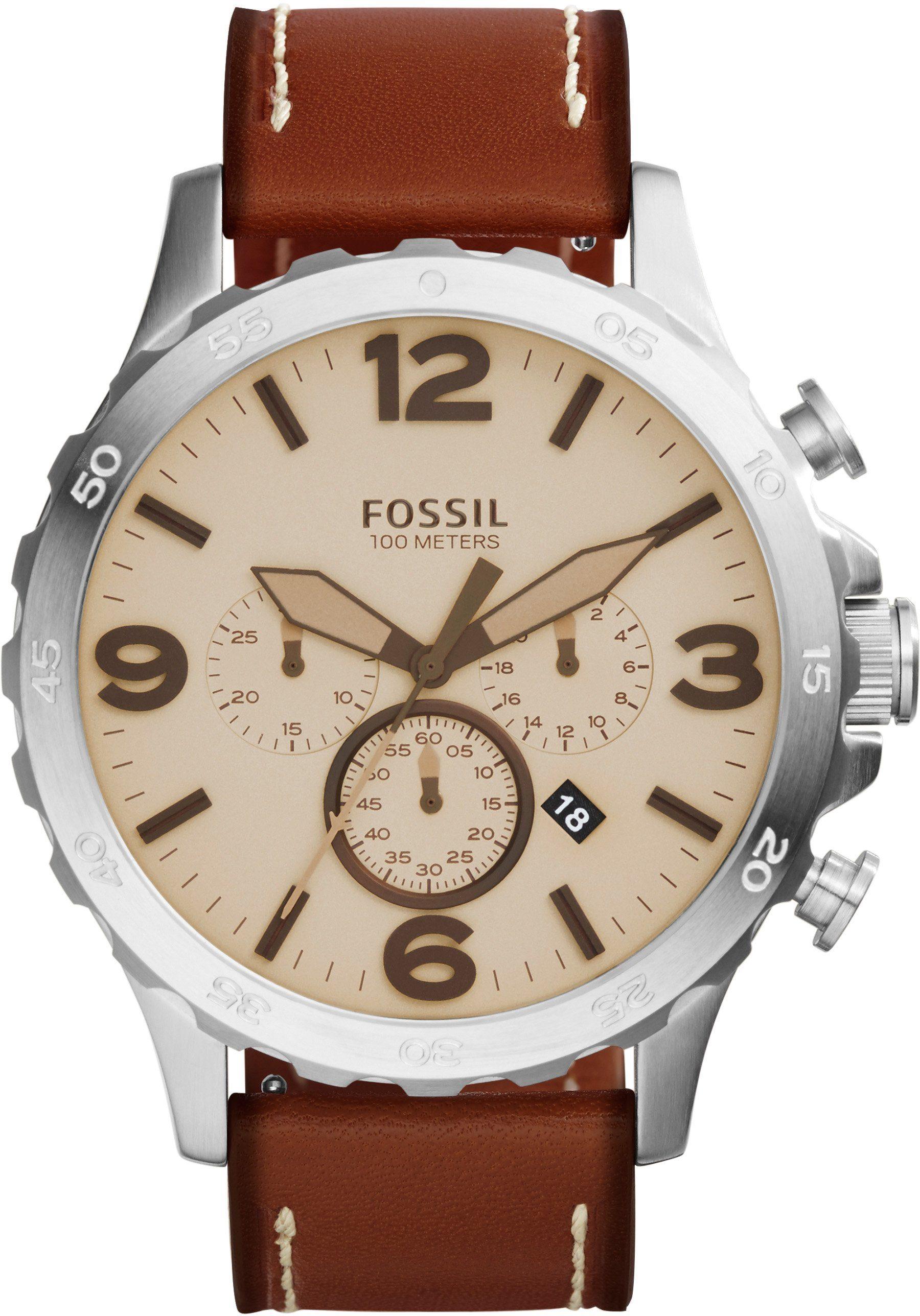 "Fossil, Chronograph, ""NATE, JR1503"""