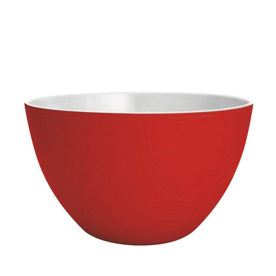 ZAK designs Zak designs Schüssel DUO 22cm rot-weiß in rot, weiß