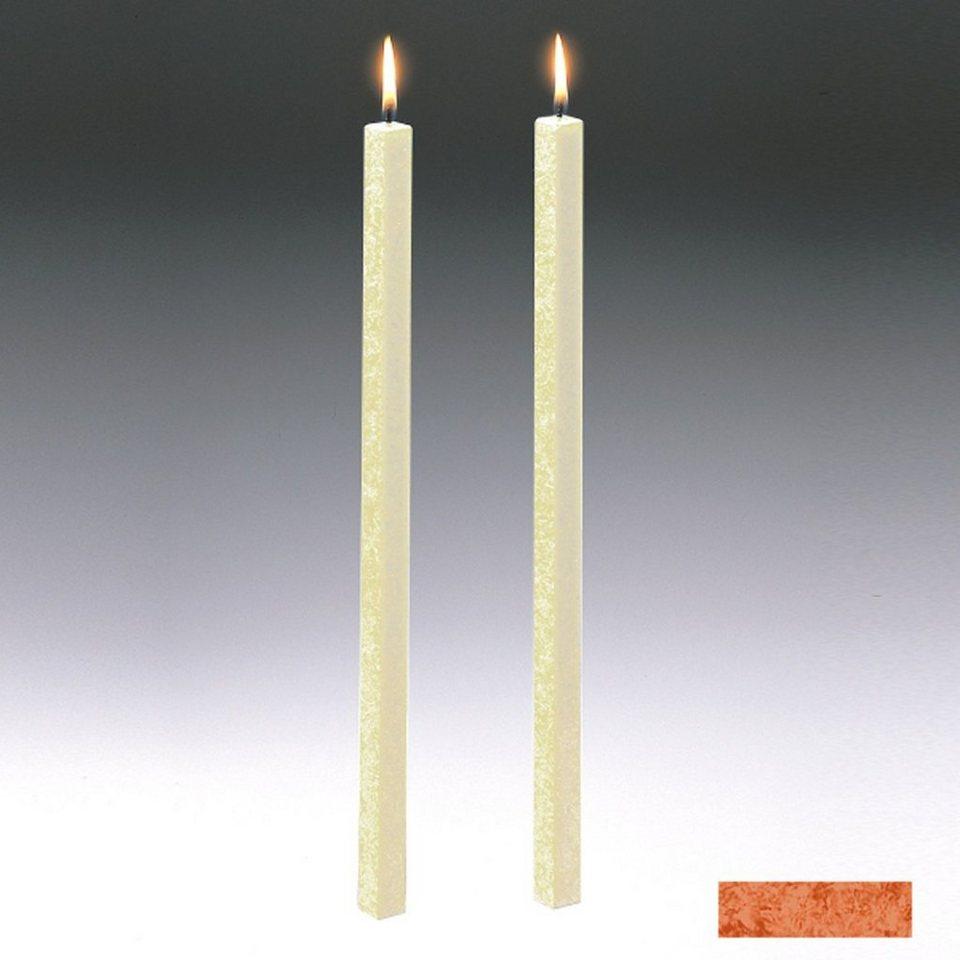Amabiente Amabiente Kerze CLASSIC Terrakotta 40cm - 2er Set in terrakotta