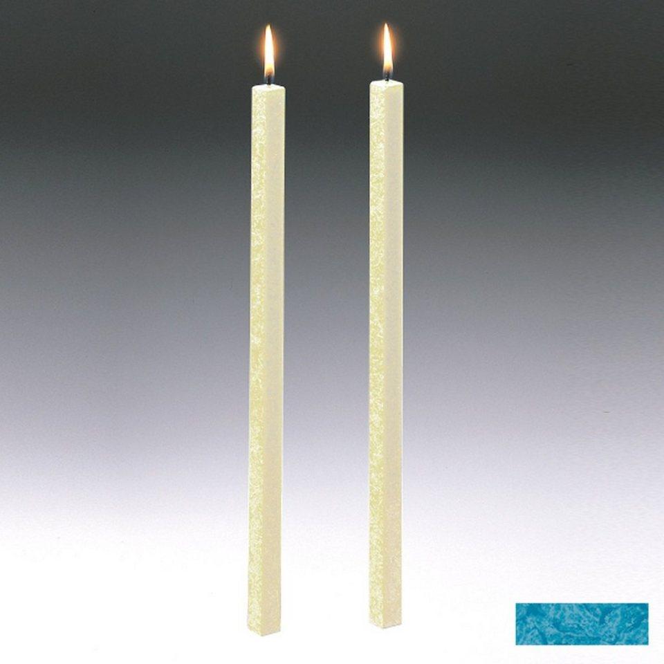 Amabiente Amabiente Kerze CLASSIC Türkis 40cm - 2er Set in türkis