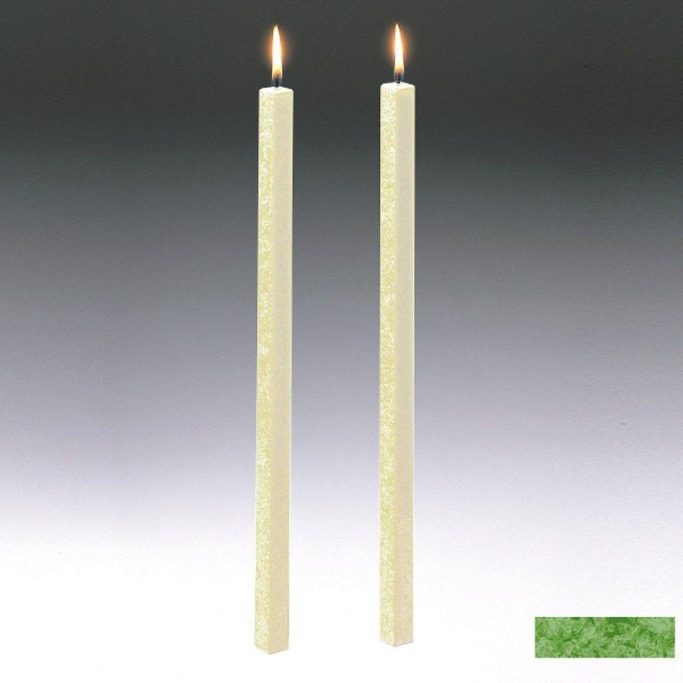 Amabiente Amabiente Kerze CLASSIC Gras 40cm - 2er Set in gras