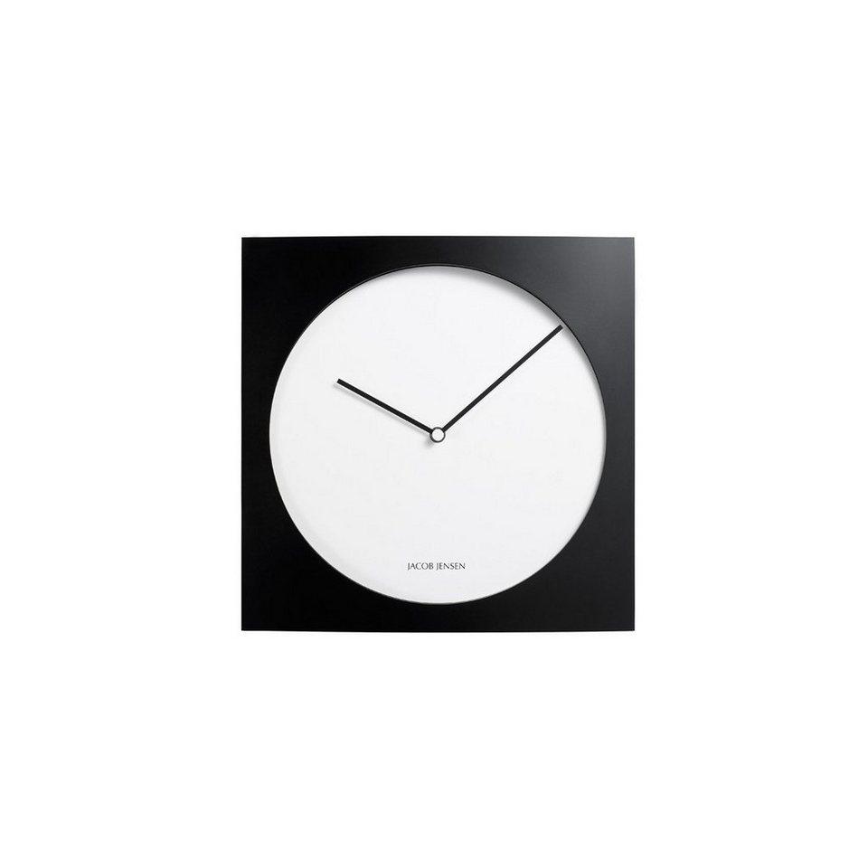 JACOB JENSEN Jacob Jensen Wall Clock 320, Wanduhr 35cm in schwarz, weiß