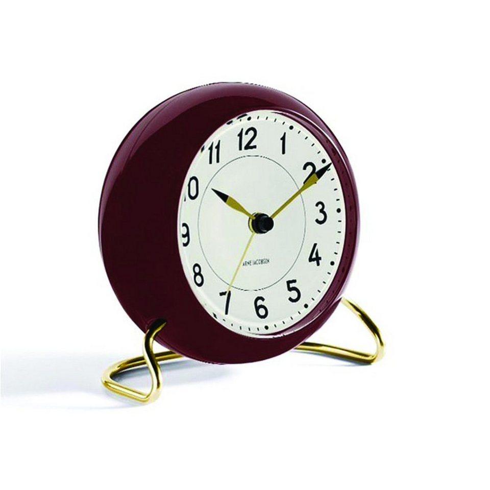 Rosendahl Rosendahl Tischuhr AJ Clock Station mit Alarm rotbraun gold in weiß, rotbraun, gold