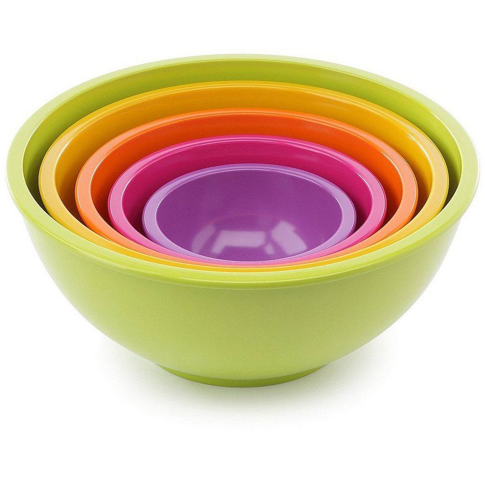 ZAK designs Zak! designs Schüsselsatz 5-teilig in Geschenkbox in grün, gelb, orange,