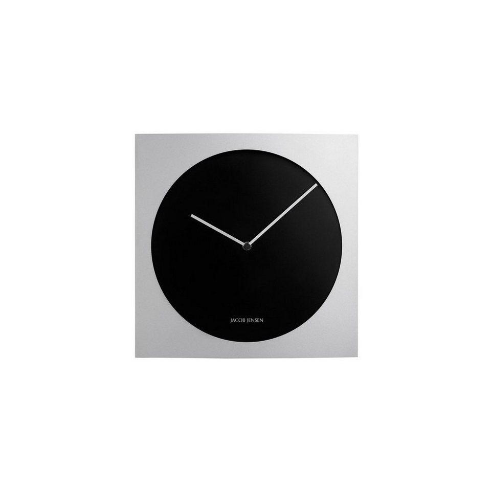 JACOB JENSEN Jacob Jensen Wall Clock 318 Wanduhr 35cm in silber, schwarz