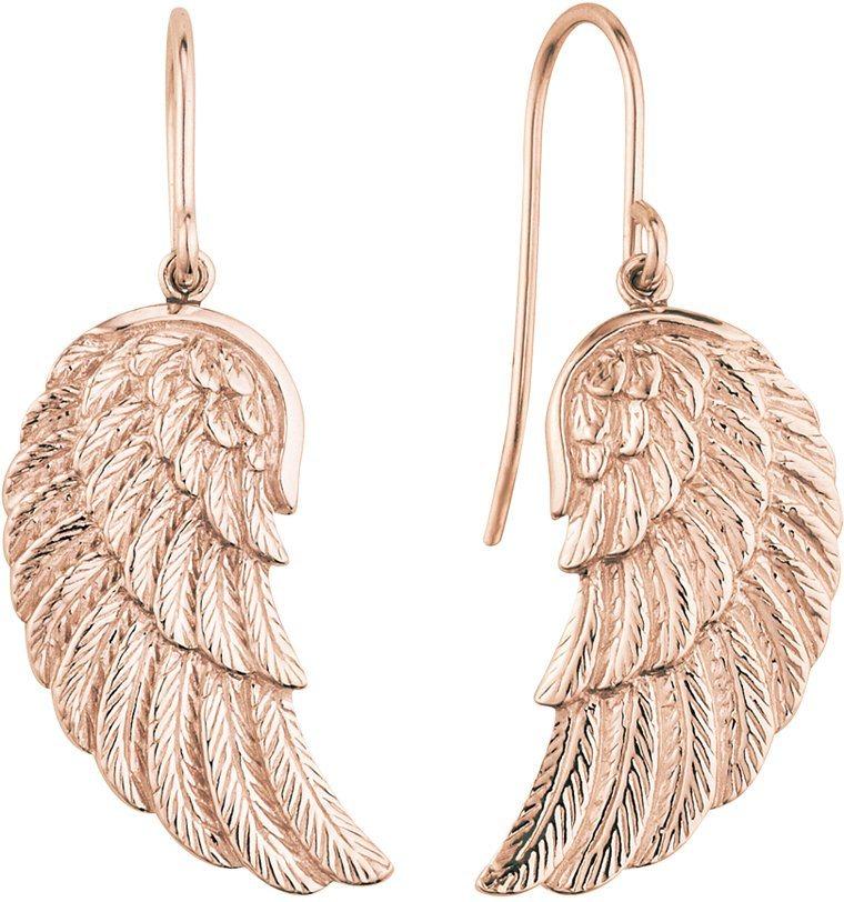 Engelsrufer Paar Ohrhaken, »Flügel, ERE-WING-R« in Silber 925-18 Karat roségoldfarben vergoldet