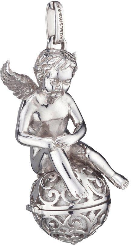 Engelsrufer Anhänger inkl. Klangkugel, »Engel auf Engelsrufer, ERP-ANGEL« in Silber 925-weiß