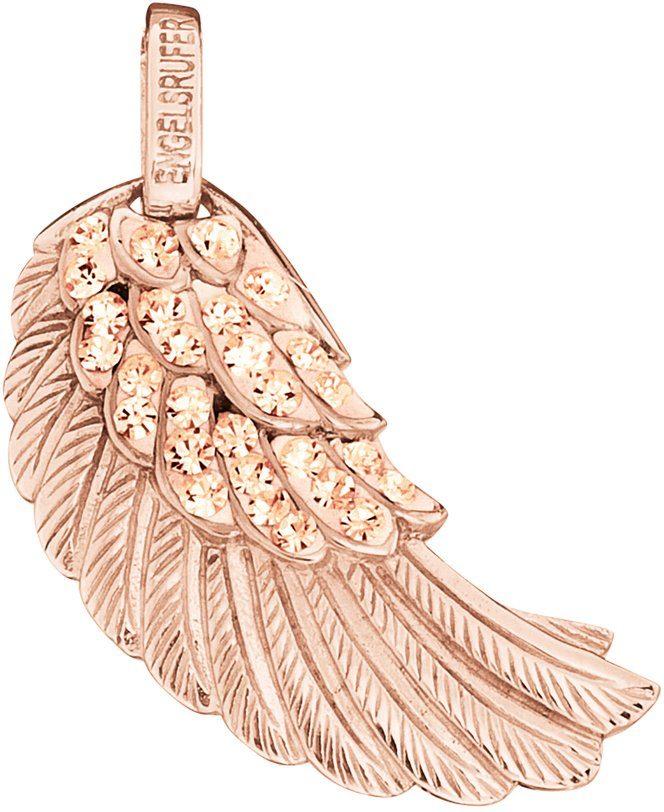 Engelsrufer Flügelanhänger »Where the angels fly, FLÜGEL CRYSTAL ROSÈ PLATED, ERW-16-ZI-R«, mit Preciosa Crystals