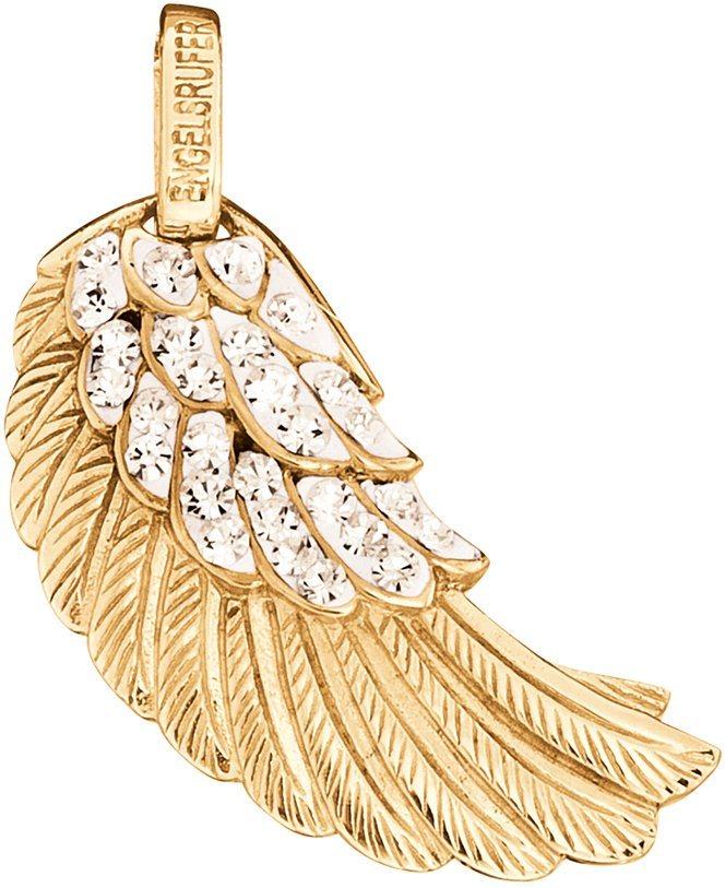 Engelsrufer Anhänger mit Preciosa Crystals, »Flügel, ERW-01-ZI-G« in Silber 925-18 Karat goldfarben vergoldet