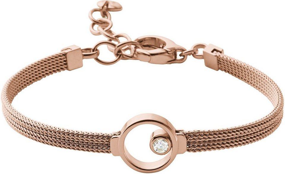 Skagen Armband mit Glasstein, »Elin, SKJ0851791« in roségoldfarben