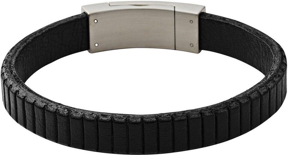 Skagen Armband, »Vinther, SKJM0099040« in schwarz-silberfarben
