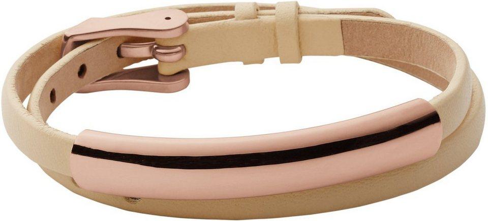 Skagen Armband zum Wickeln, »Elin, SKJ0859791« in beige-roségoldfarben