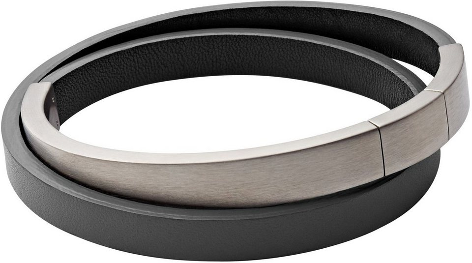 Skagen Armband zum Wickeln, »Vinther, SKJM0101040« in grau-silberfarben