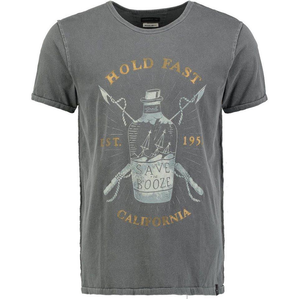 O'Neill T-Shirt kurzärmlig »Hold Fast« in Anthrazit