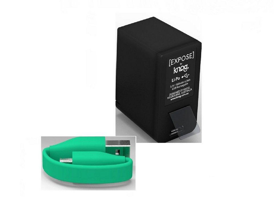Qudos by Knog Zusatzakku »11630D Battery Pack« in schwarz / grün