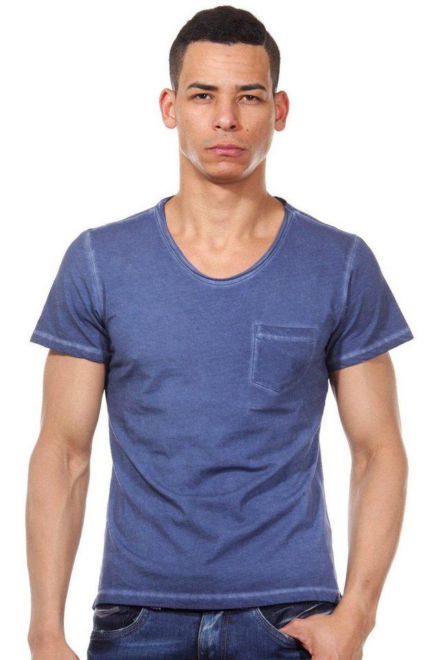 CASUAL FRIDAY T-Shirt Rundhals slim fit in indigo