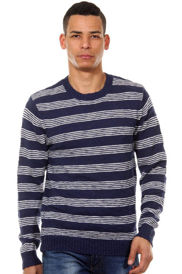 CASUAL FRIDAY Pullover Rundhals slim fit in indigo