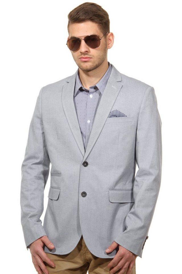 CASUAL FRIDAY Sakko slim fit in blau/grau