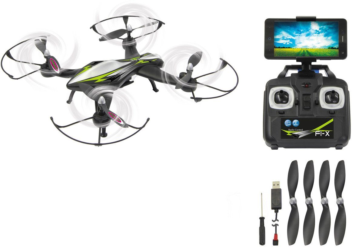 JAMARA Quadrocopter mit Kamera, »F1X Altitude HD AHP+ WiFi 2,4GHz schwarz«