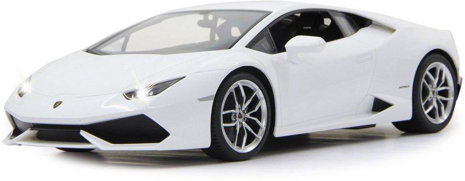JAMARA RC Fahrzeug mit LED Beleuchtung, »Lamborghini Huracan LP610 40MHz 1:14 weiß« in weiß