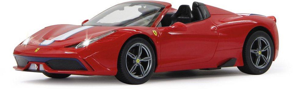 JAMARA RC Fahrzeug mit Licht und Sound, »Ferrari 458 Speciale 40MHz 1:14 rot« in rot