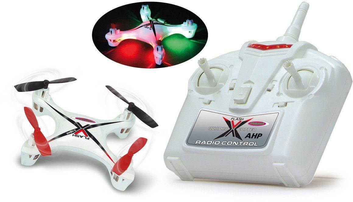 JAMARA Quadrocopter mit LED-Beleuchtung, »X-Flash AHP 2,4GHz weiß«