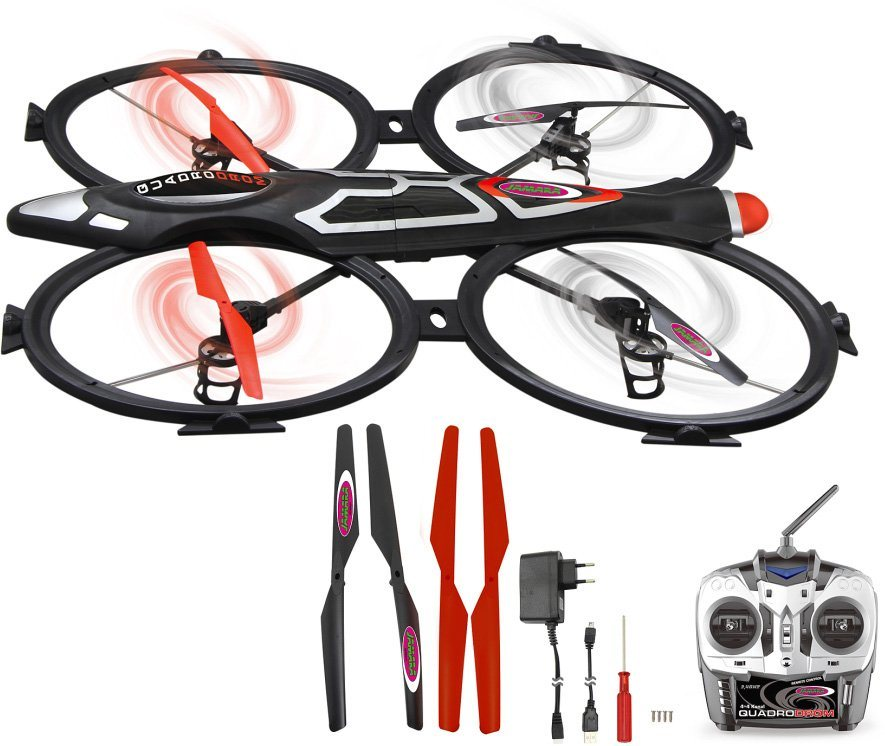 JAMARA Quadrocopter mit Kamera, »Quadrodrom 2,4GHz schwarz« in schwarz