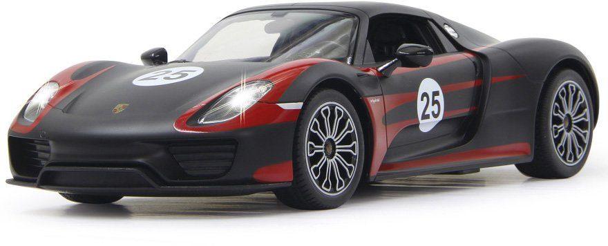 JAMARA RC Fahrzeug mit LED Beleuchtung, »Porsche 918 Spyder Race 40 MHz 1:14 schwarz«
