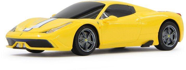 JAMARA RC Fahrzeug, »Ferrari 458 Speciale A 27 MHz 1:24 gelb« in gelb