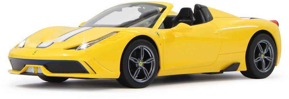 JAMARA RC Fahrzeug mit Licht und Sound, »Ferrari 458 Speciale 27MHz 1:14 gelb«