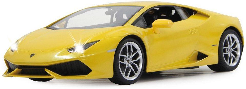JAMARA RC Fahrzeug mit Licht, »Lamborghini Huracan LP610 27 MHz 1:14 gelb« in gelb