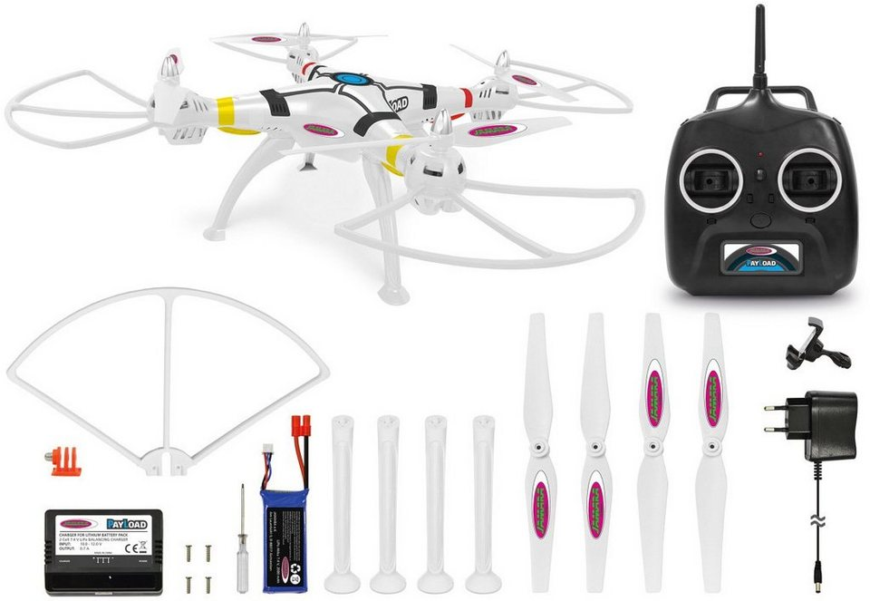 JAMARA Quadrocopter mit Halterung, »Payload Altitude AHP+« in weiß