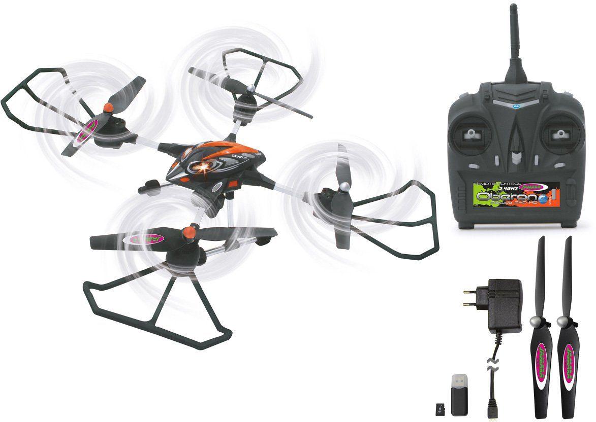 JAMARA RC Quadrocopter mit Kamera, »RC Oberon Altitude AHP 2,4GHz schwarz/rot«