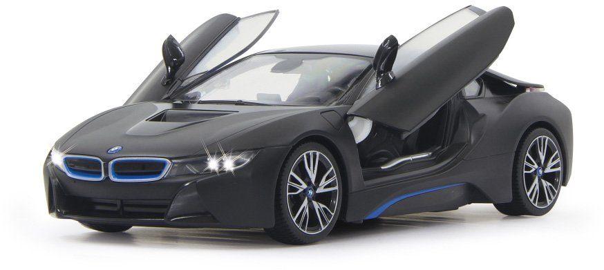 JAMARA RC Fahrzeug mit LED Beleuchtung, »BMW i8 40MHz 1:14 schwarz«