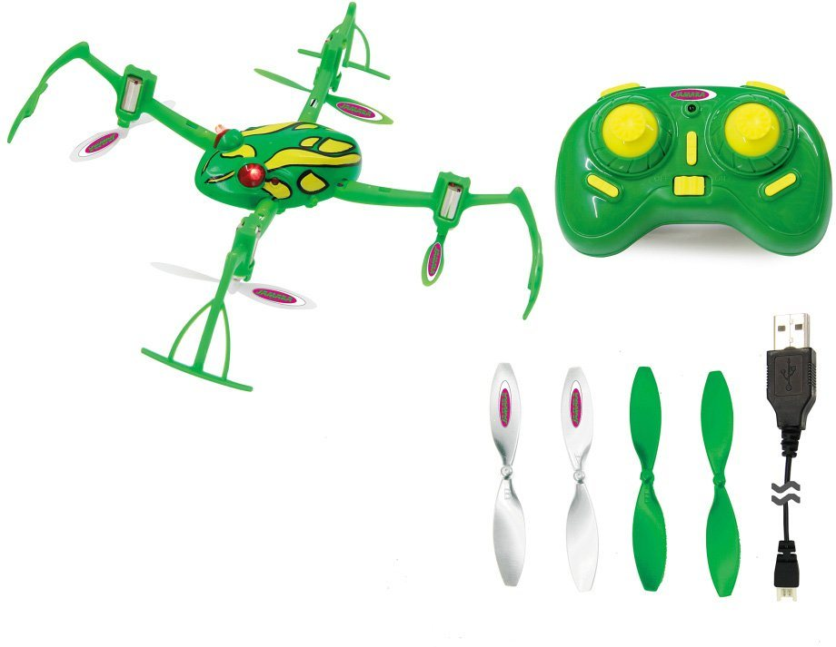 JAMARA Quadrocopter mit Rotorschutz, »Loony Frog 3D AHP+ 2,4 GHz grün« in grün