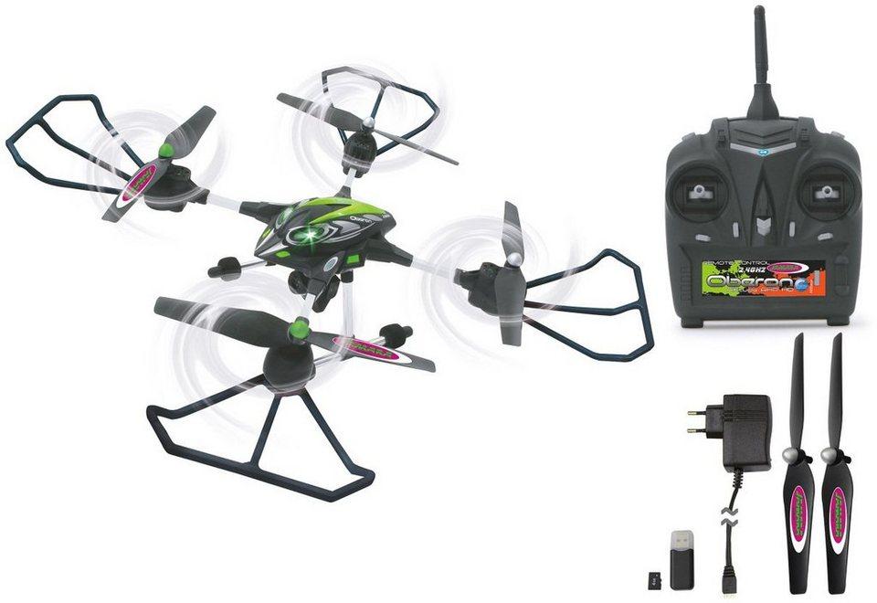 JAMARA Quadrocopter mit Kamera, »RC Oberon Altitude AHP 2,4 GHz schwarz/grün« in schwarz