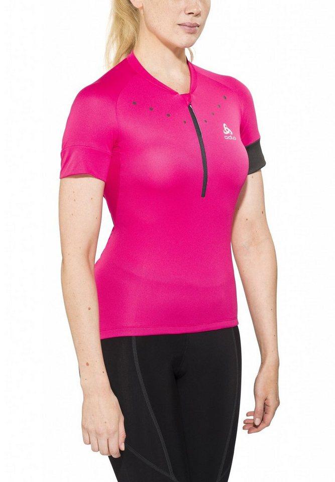 Odlo Radtrikot »ISOLA Stand-up collar s/s 1/2 zip Women« in pink