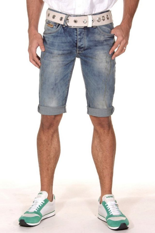 Bright Jeans Denim Shorts in blau