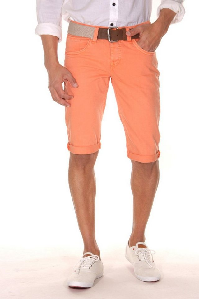 Bright Jeans Denim Shorts in orange