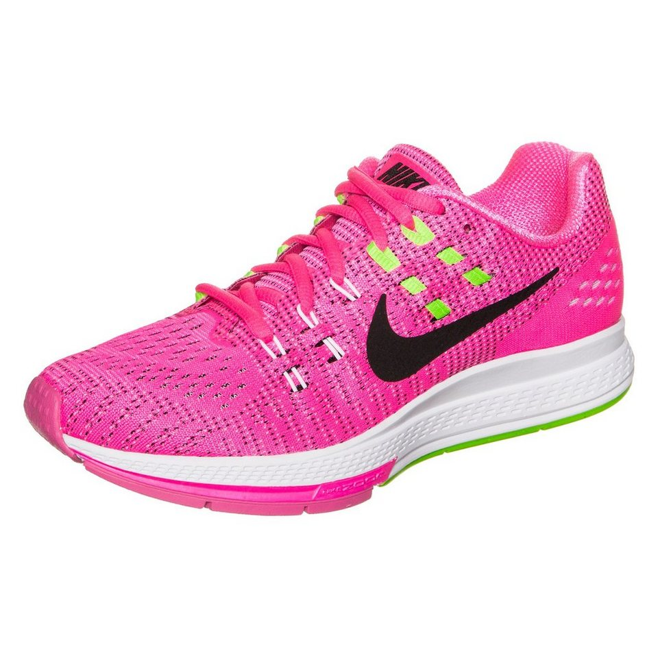 NIKE Air Zoom Structure 19 Laufschuh Damen in pink / lime