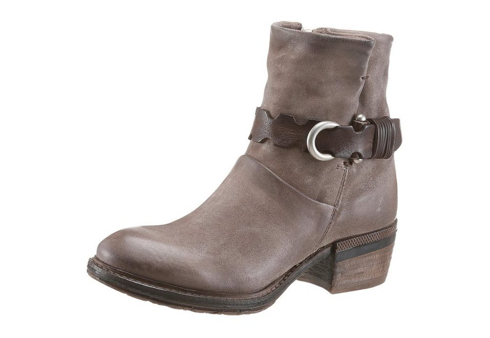 A.S.98 Westernstiefelette in taupe-braun