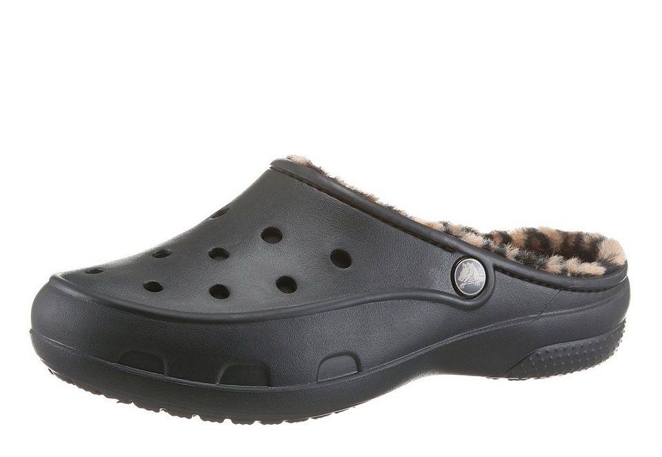 Crocs Clog mit Warmfutter in schwarz-beige