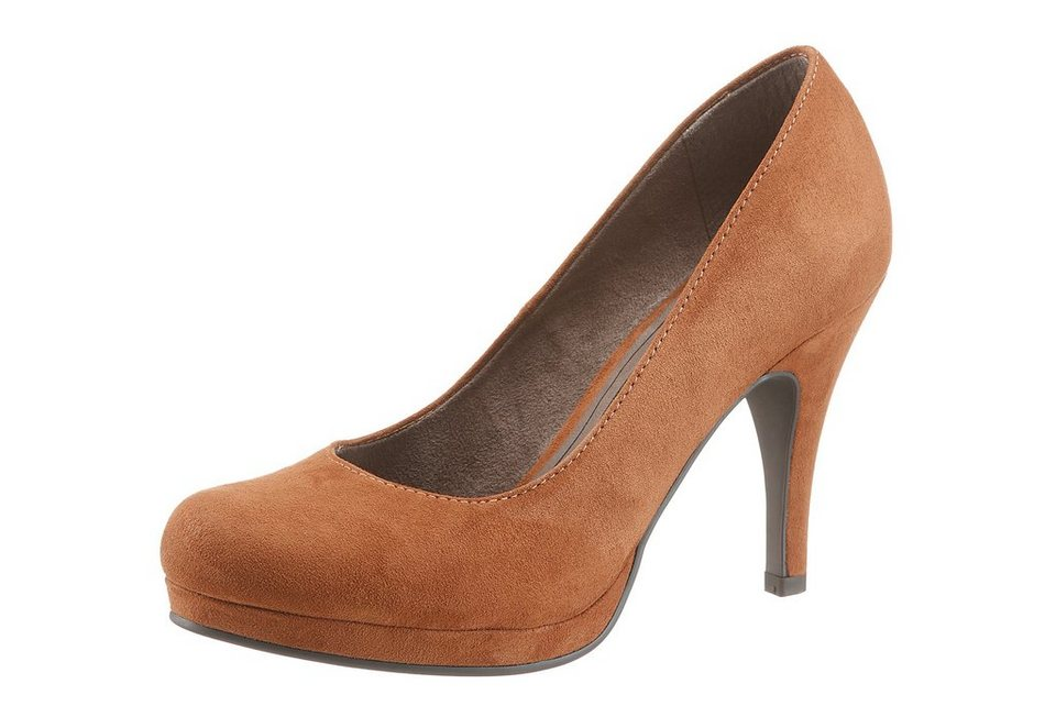Tamaris High-Heel-Pumps mit Plateau in braun