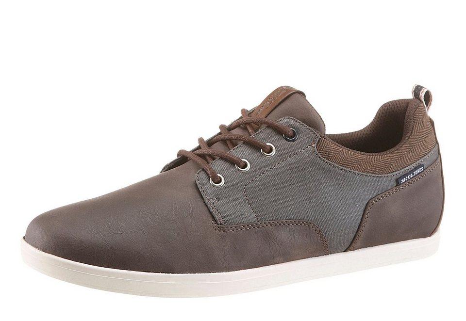 Jack & Jones »Vaspa« Sneaker im Materialmix in dunkelbraun