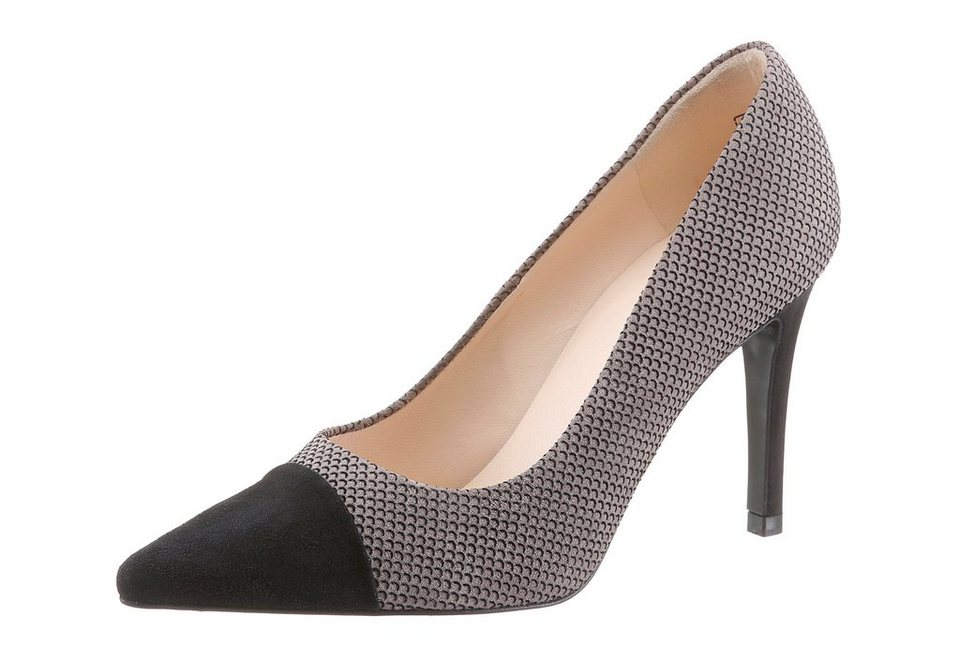 Peter Kaiser High-Heel-Pumps in Snake-Optik in taupe-schwarz