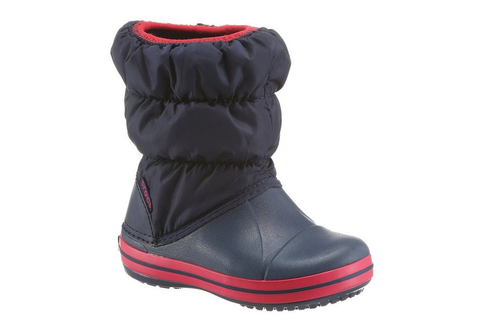 Crocs »Winter Puff Boots Kids« Stiefel in navy-rot-marine-dunkelblau