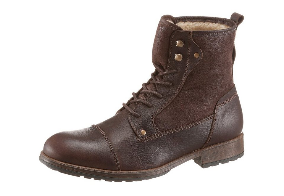 PETROLIO Winterstiefel in Double Face Look in braun