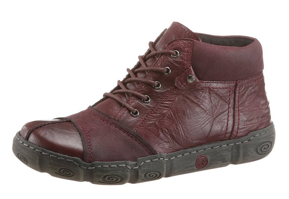 Hush Puppies Schnürboots in bordeaux
