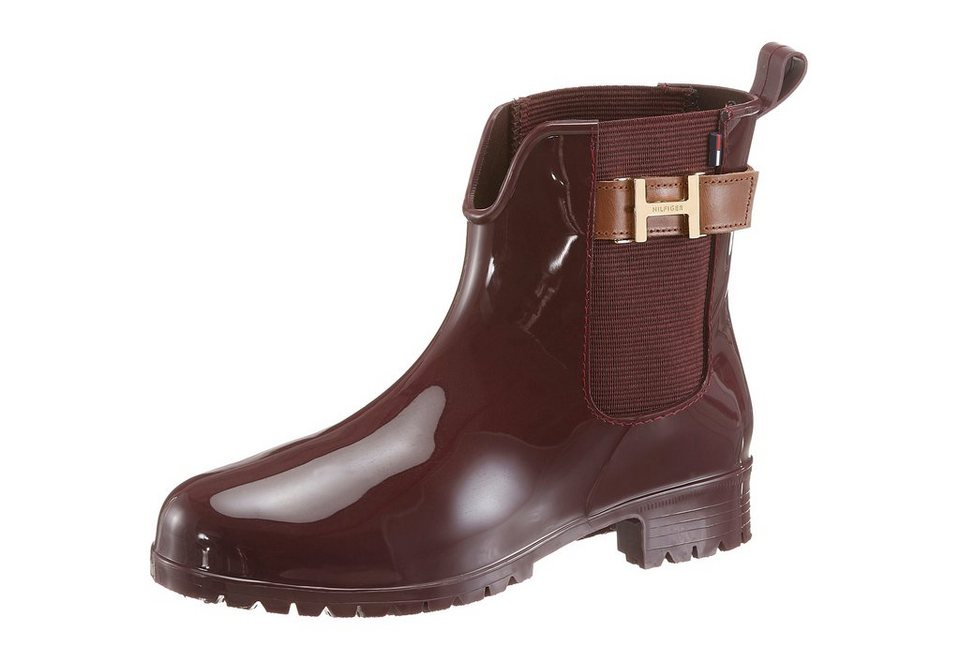 Tommy Hilfiger Chelseaboots in dunkelrot